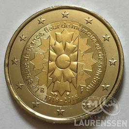 2 euro Frankrijk 2018 UNC 'Franse Korenbloem'