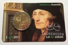 2 euro Nederland 2011 UNC 'Erasmus' in coincard