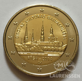 2 euro Letland 2014 UNC 'Riga'