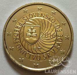 2 euro Slowakije 2016 UNC 'Voorzitterschap EU'