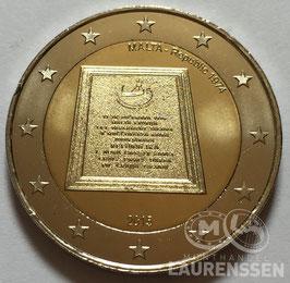 2 euro Malta 2015 UNC 'Republiek 1974'