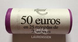 Muntrol 2018 2 euro Spanje '50 jaar Koning Felipe VI' 25x 2 euro in rol