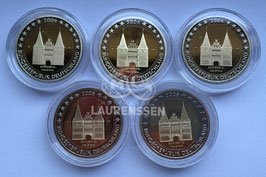 5x 2 euro Duitsland 2006 Proof letters A-D-F-G-J 'Slot Holstein'