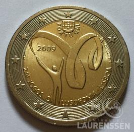 2 euro Portugal 2009 UNC 'Lusofonie'