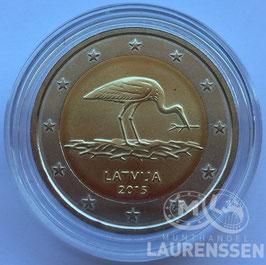 2 euro Letland 2015 BU 'Zwarte Ooievaar'