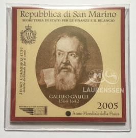 Hoesje voor het opbergen 2 euro blister San Marino 2004 of 2005