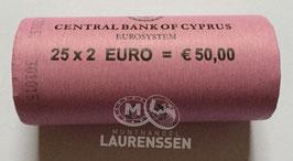 Muntrol 2015 2 euro Cyprus '30 jaar Europese Vlag' 25x 2 euro in rol