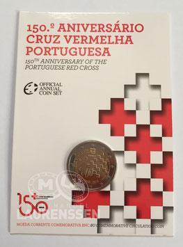 2 euro Portugal 2015 BU '150 jaar Portugees Rode Kruis' in coincard