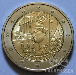 2 euro Oostenrijk 2018 UNC '100 jaar Republiek'