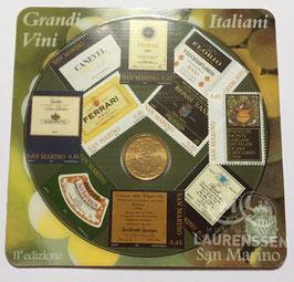 50 cent San Marino 2007 in blister met 10 postzegels (Italiaanse Wijnen)