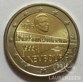 2 euro Luxemburg 2016 UNC 'Charlotte Brug'