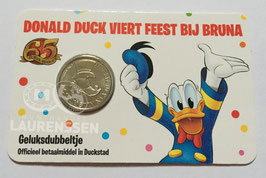 65 jaar Donald Duck Geluksdubbeltje 2017 UNC in coincard
