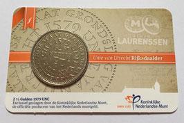 Unie van Utrecht Rijksdaalder 1979 UNC in coincard 2017 uitgifte