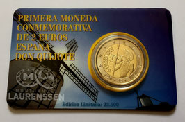 2 euro Spanje 2005 UNC 'Don Quichot' in coincard
