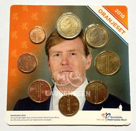 Oranjeset Nederland 2016 UNC (1 cent - 2 euro) in coincard