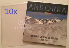 10x hoesje voor het opbergen BU set Andorra, San Marino of Italië