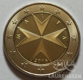 2 euro Malta 2016 UNC 'Malteser Kruis' met letter F