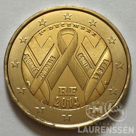 2 euro Frankrijk 2014 UNC 'Wereld Aids Dag'