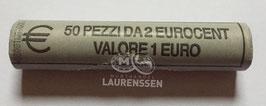 Muntrol 2004 2 cent San Marino 'Vrijheidsbeeld' 50x 2 eurocent in rol