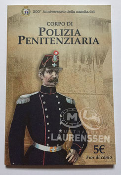 5 euro Italië 2017 BU '200 jaar Politie' in blister