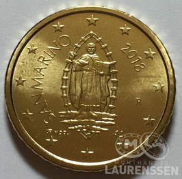 50 cent San Marino 2018 UNC 'Marinus van Rimini'