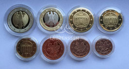 Proof set Duitsland 2006 in capsules (1 cent - 2 euro) letters D