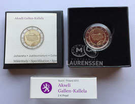 2 euro Finland 2015 Proof 'Akseli Gallen-Kallela' in cassette
