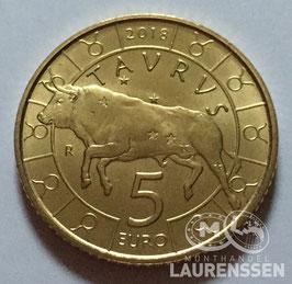 5 euro San Marino 2018 UNC 'Sterrenbeeld - Stier'