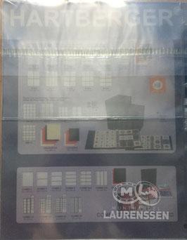 Hartberger S-2 bladen 2-vaks voor bijv. bankbiljetten (5 stuks)