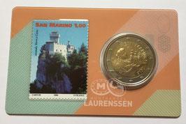 Stamp & coincard met 2 euro San Marino 2018 BU (nummer 2)