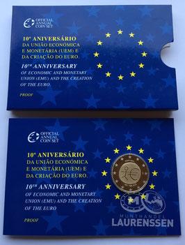 2 euro Portugal 2009 Proof '10 jaar EMU' in blister