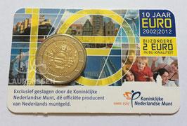 2 euro Nederland 2012 BU '10 jaar Euro' in coincard