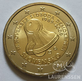 2 euro Slowakije 2009 UNC 'Vrijheid en democratie'