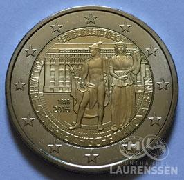 2 euro Oostenrijk 2016 UNC '200 jaar Nationale Bank'