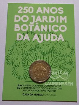 2 euro Portugal 2018 BU 'Tuinen van Ajuda' in coincard