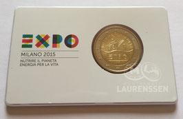 2 euro Italië 2015 BU 'World Expo 2015' in coincard