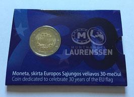 2 euro Litouwen 2015 BU '30 jaar Europese Vlag' in coincard