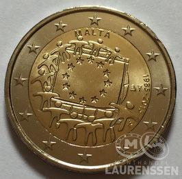 2 euro Malta 2015 UNC '30 jaar Europese Vlag'