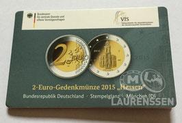 2 euro Duitsland 2015 BU letter D 'Hessen' in coincard