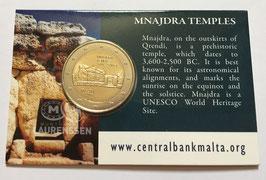 2 euro Malta 2018 BU 'Mnajdra Tempels' in coincard
