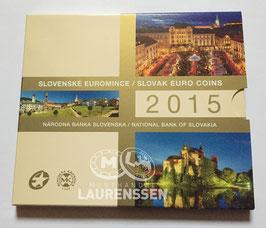 BU set Slowakije 2015 (1 cent - 2 euro + bimetalen penning) in blister
