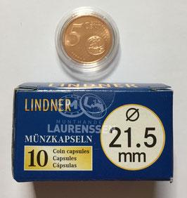 Lindner capsules voor 5 eurocent (21,5 mm)