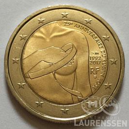 2 euro Frankrijk 2017 UNC 'Borstkanker'