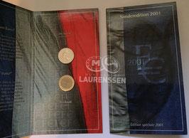 1 euro + 1 Franc Frankrijk 2001 UNC in blister 'Special Edition'