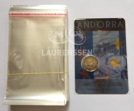 100x zakje voor het opbergen 2 euro coincard