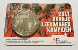 Oranje Leeuwinnen penning 2017 BU in coincard