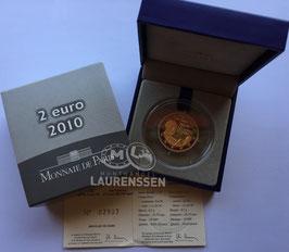 2 euro Frankrijk 2010 Proof 'Generaal de Gaulle' in cassette