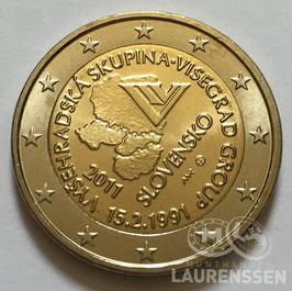 2 euro Slowakije 2011 UNC 'Visegrad'