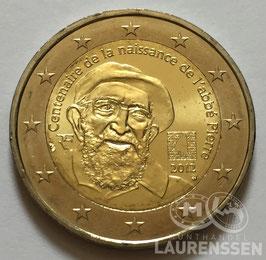 2 euro Frankrijk 2012 UNC 'Abbe Pierre'