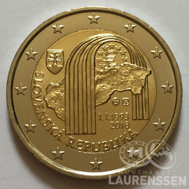 2 euro Slowakije 2018 UNC '25 jaar Republiek'